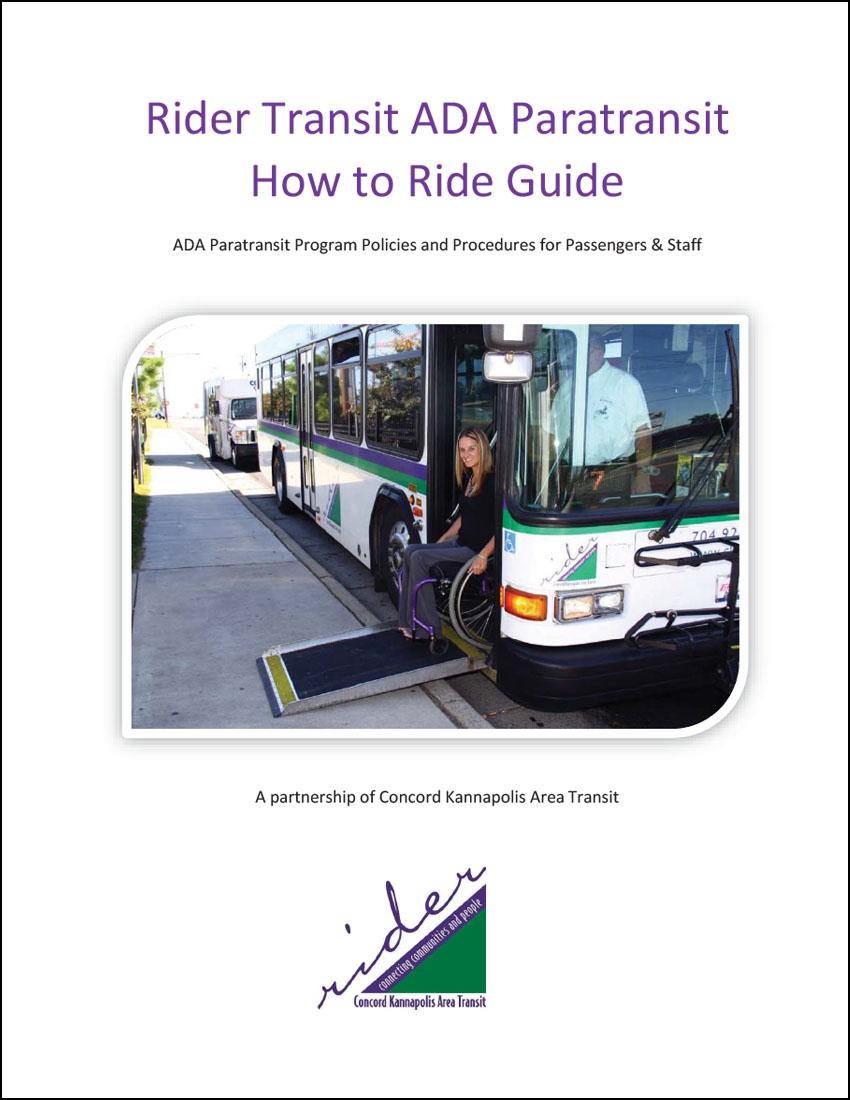 Rider Transit's ADA Paratransit How to Ride Guide (English)