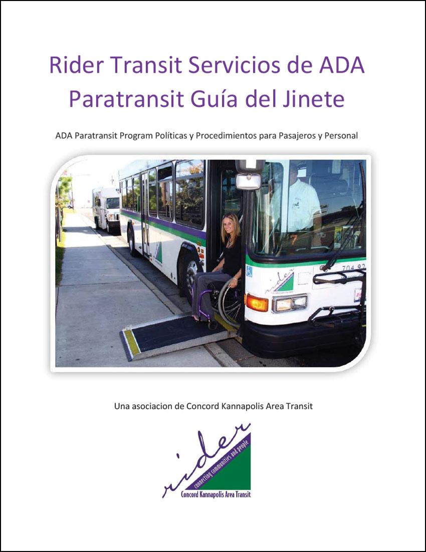 Rider Transit's ADA Paratransit How to Ride Guide (Spanish)