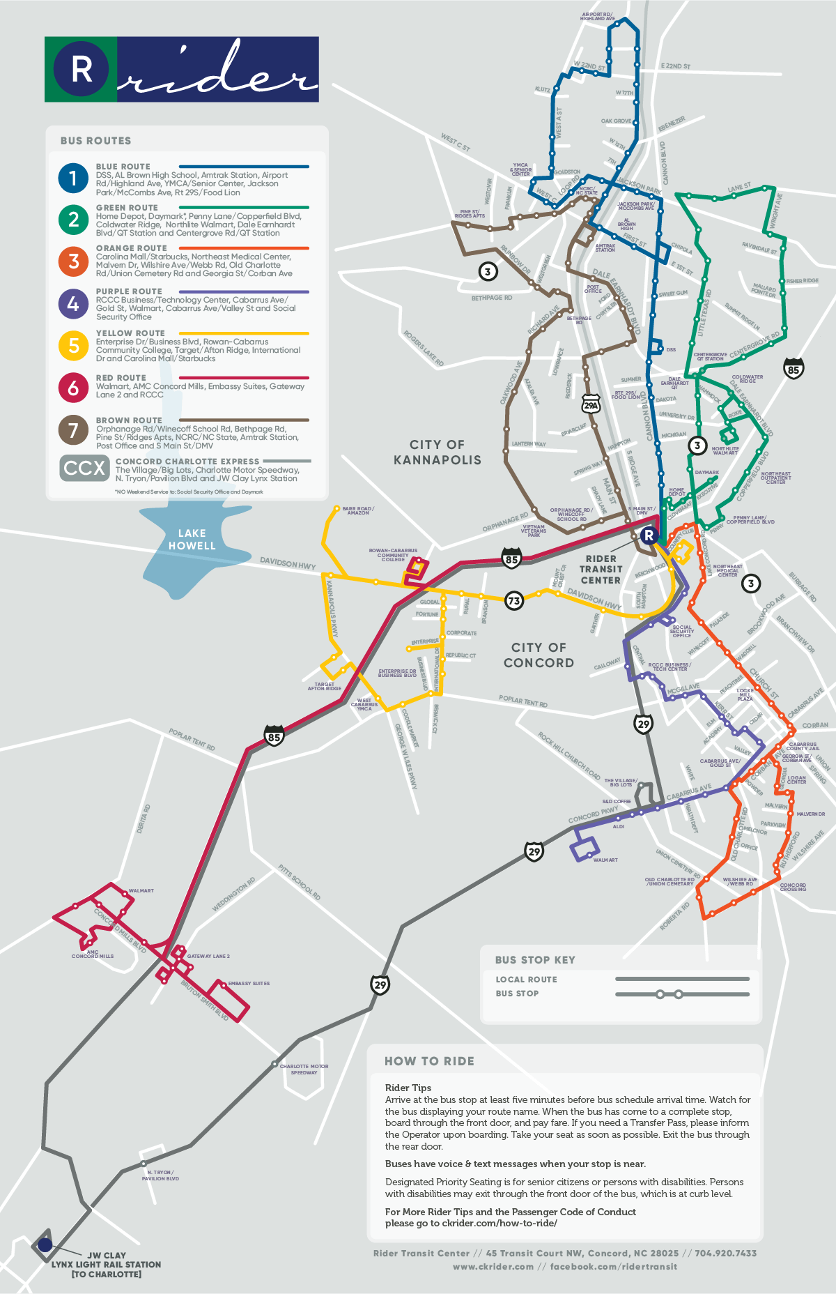 A full system map of our bus routes